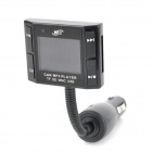 "S-017 1.5"" LCD Wireless Car MP3 Player FM Transmitter with Remote Controller - Black (12~24V)"