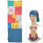 Prayer Flag Pattern Multi-Function Outdoor Cycling Seamless Head Scarf - Multicolored