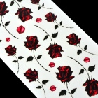 Rose Pattern Tattoo Paper Sticker - Red