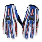 PRO-BIKER CE-01 Full-Fingers Motorcycle Racing Gloves - Blue + White + Black (Pair / Size XL)