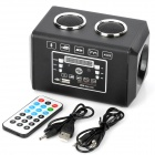 F-2 Bluetooth v2.1 Multi Media Player Speaker w/ FM / SD / Remote Controller - Black + Silver