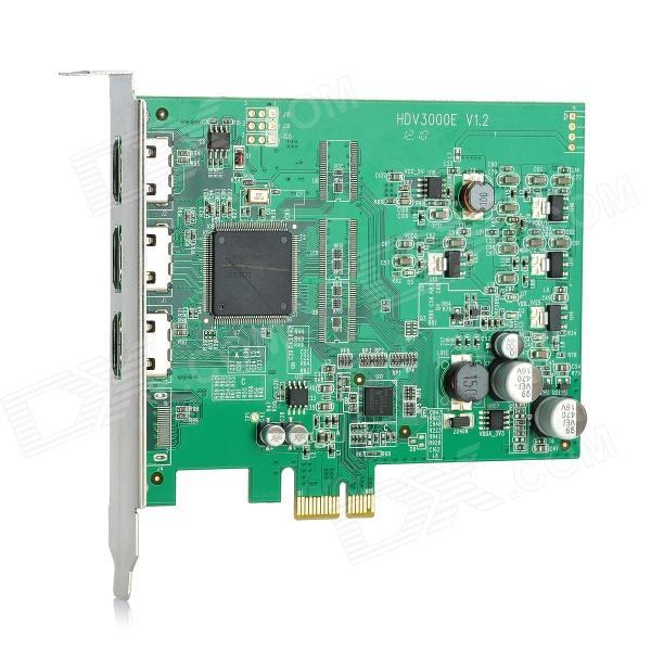 цена 10MOONS HDV3000E PCI-E HDMI 720P/ 1080i Digital Video Capture Card - Green
