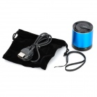 MKBS-003 Mini Bluetooth v3.0 + EDR 2.1-Channel Speaker w/ Strap - Blue + Black