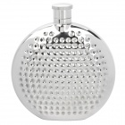 Outdoor Portable Stainless Steel Liquor Flask w/ Funnel - Silver (6oz)