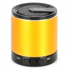 MKBS-001 Mini Bluetooth v3.0 + EDR 2.1-Channel Speaker w/ Strap - Golden + Black
