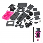 LOMO-001 DIY Assemble Plastic Twin Lens Reflex Camera - Deep Pink