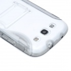 Protective TPU Back Case w/ Stand for Samsung Galaxy S3 i9300 - Translucent Grey
