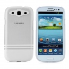 Protective Plastic Back Case for Samsung Galaxy S3 i9300 - Translucent + White