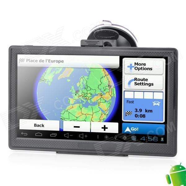M7053 7 Resistive Screen Android 4.0 GPS Navigator w/ Europe Map / Wi-Fi xm 05 7 0 resistive screen win ce 6 0 gps navigator w europe map tf built in 4gb flash memory