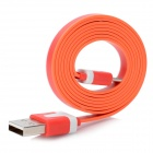 USB Male to Micro USB Male Data / Charging Flat Cable for HTC / Samsung / Sony + More - Red