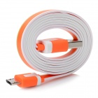 USB Male to Micro USB Male Data / Charging Flat Cable for HTC / Samsung / Sony + More - Orange