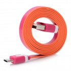 USB Male to Micro USB Male Data / Charging Flat Cable for HTC / Samsung / Sony + More - Deep Pink