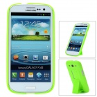 Protective Plastic Back Case w/ Stand for Samsung Galaxy S3 i9300 - Green