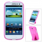 Protective Plastic Back Case w/ Stand for Samsung Galaxy S3 i9300 - Purple Red