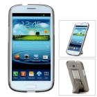 Protective Plastic Back Case w/ Stand for Samsung Galaxy S3 i9300 - Translucent Grey
