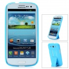 Protective Plastic Back Case w/ Stand for Samsung Galaxy S3 i9300 - Blue