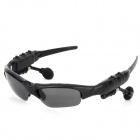 Bluetooth v1.2 UV400 Protection Sunglasses w/ Microphone - Black (4GB)