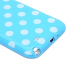 Polka Dot Pattern Protective Silicone Back Case for Samsung Galaxy Note 2 N7100 - Blue + White