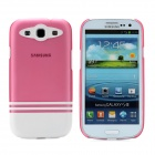 Protective ABS Plastic Case for Samsung i9300 Galaxy S3 - White + Translucent Deep Pink