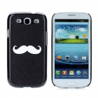 Moustache Pattern Protective PC Hard Case for Samsung Galaxy S3 i9300 - Black