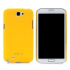 Protective Matte Plastic Back Case for Samsung N7100 Galaxy Note II - Yellow