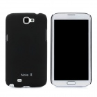 Protective Plastic Case for Samsung Galaxy Note 2 N7100 - Black