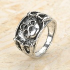 Skull Pattern Vintage Alloy Ring for Women - Silver