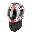 Cool IBK 111 Outdoor Sports Motorcycle Racing Helmet - Black + Red + White (Size L)