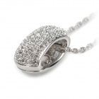 KCCHSTAR BK-282S Silver Plated Alloy Artificial Fancy Colored Diamond Necklace - Silver (Chain-50cm)
