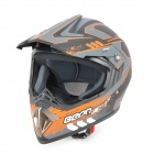 Cool BEON A6 Outdoor Sports Motorcycle Racing Helmet - Black + Orange (Size L)