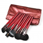 Finding Color FC24002 Professional 24-in-1 Cosmetic Makeup Brushes Set - Maroon