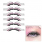 MAXDONA YYT-01 Cosmetic Instant Eye Shadow - White + Purple + Black (6 Pairs)