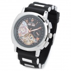 ST.PATRICK FI-209A Self-Winding Rubber Band Mechanical Analog Wrist Watch w/ Calendar - Black
