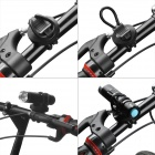 81131 360 Degrees Rotation Cycling Bicycle Mount Holder Clamp for Flashlight Torch - Black
