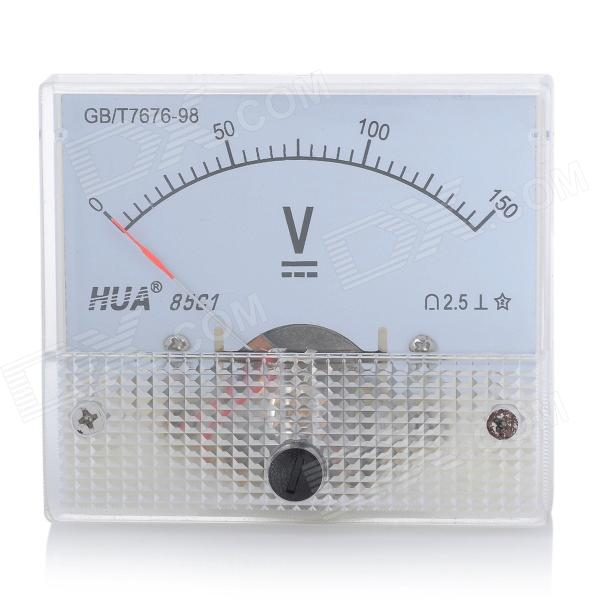 Analogue DC 150V Voltage Panel Meter - White analogue dc 500v voltage panel meter white