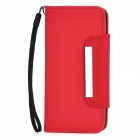 Football Pattern Protective Flip-Open PU Leather Case for Iphone 5 - Red