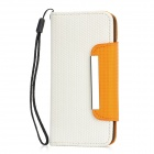 Fußball-Korn-Muster Protective PU-Leder Flip Open Case w / Strap für iPhone 5 - Orange + White