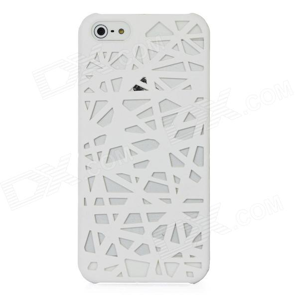 Bird's Nest Style Protective Plastic Back Case for Iphone 5 - White цена
