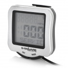 "B-square 1.5"" LCD Water Resistant Bicycle Computer / Speedometer - Silver (1 x CR2032)"