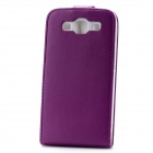 Fashion Protective PU Leather Top Flip-Open Case w/ Magnetic Buckle for Samsung i9300 - Purple