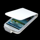 Fashion Protective PU Leather Top Flip-Open Case w/ Magnetic Buckle for Samsung i9300 - White