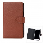 Protective PU Leather Flip Open Case Cover w/ Card Slots for Samsung N7100 - Brown