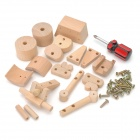 Eco-Friendly Holz DIY Montage Motorrad-Modell Educational Toy