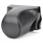 Protective Carrying PU Leather Camera Bag for Panasonic GF2 - Black