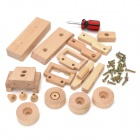 WT703 Eco-Friendly Holz DIY Montage Jeep Modell Educational Toy