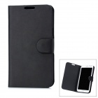 Protective Flip Open PU Case Cover for Samsung N7100 - Black