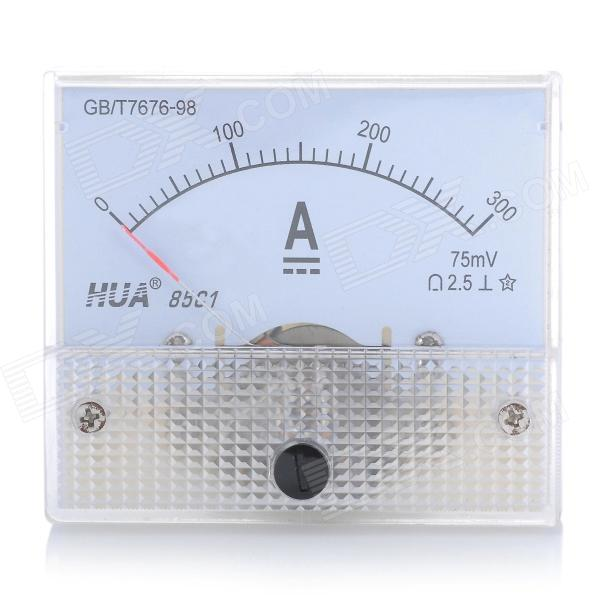 Analogue DC 300A Current Panel Meter Ammeter - White analogue dc 500v voltage panel meter white