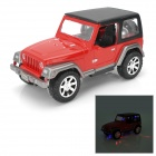 1:24 Scale 2-CH 27MHz Remote Controlled R / C Cross-Country Jeep - Red + Black (3 x AA)