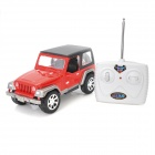 1:24 Scale 2-CH 27MHz Remote Controlled R/C Cross-Country Jeep - Red + Black (3 x AA)