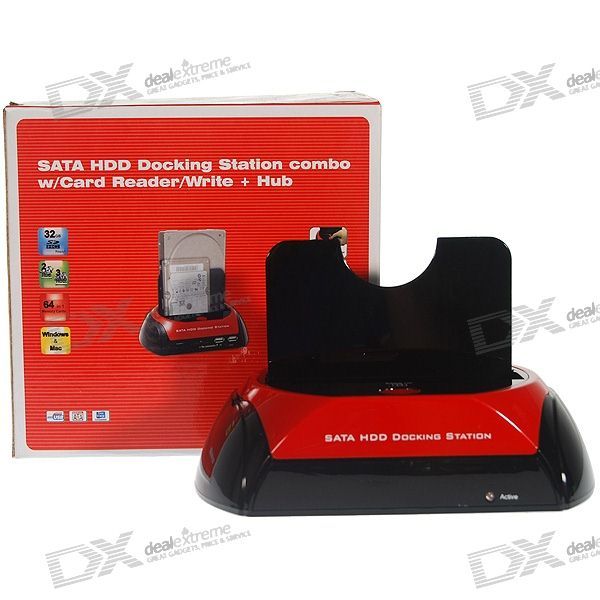 "USB Vertical Dock with One Touch Backup for 2.5""/3.5"" SATA HDD"